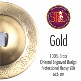 Finger Cymbals / Zills Gold finish 100% Brass 4 pcs Set