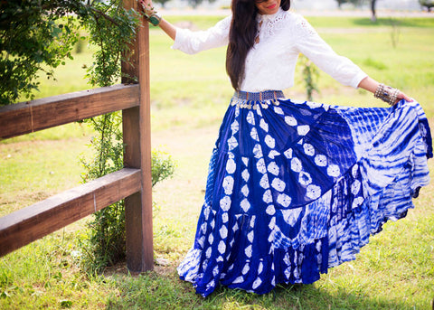 Jaipur Fusion Skirt Blue