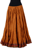 Padma Ashwarya skirt gold