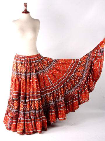 HYDERABADI DESIGN Orange color