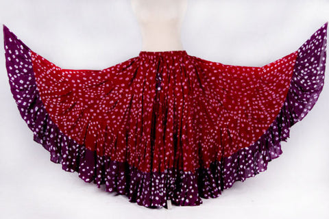 Jaipur 2 tone Skirt purple/burgundy