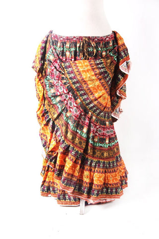 Digital Printed Skirt Mustard Flower