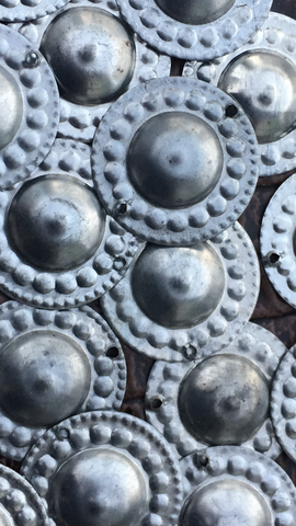 Turkaman Button Design Amulets Silver 100 pcs