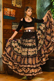 Digital print Skirt Black masti