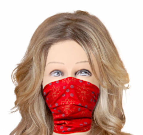 Face cloth mask red