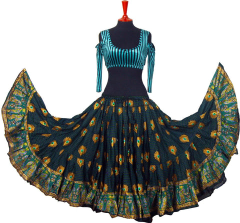 Digital print Skirt peacock new
