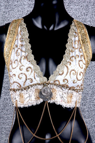 Halter Top Ivory/Gold