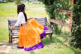 Jaipur 2 tone Skirt orange/purple