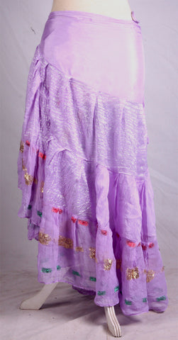 Bollywood Wrap skirt light purple