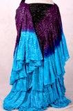Lurex 3Tone Skirt Black/Purple/Turquoise