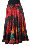 Lurex Marble Tye Dyed Batik skirt Forest