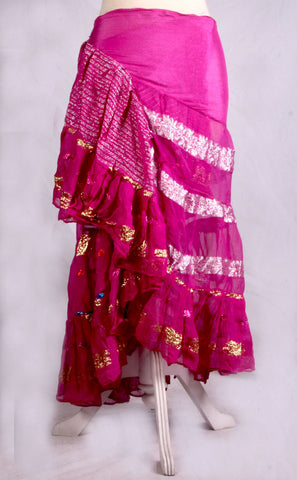 Bollywood Wrap skirt magenta