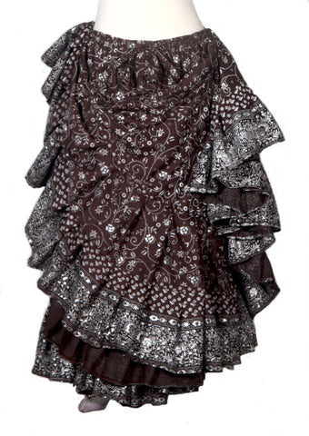 Jodha Maharani Skirt Brown