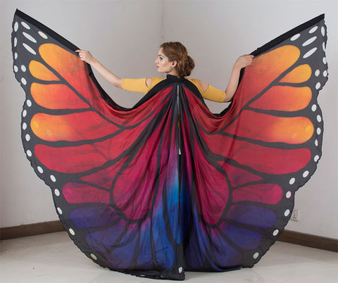 Butterfly Silk ISIS Wings In Petite Size Multi Color
