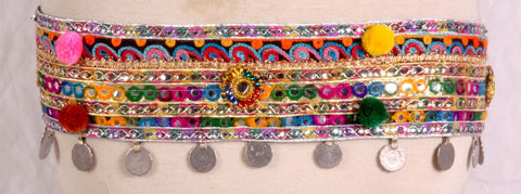 Tribal Kuchi multi Color Belt