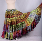 Multi Blockprint skirt 1