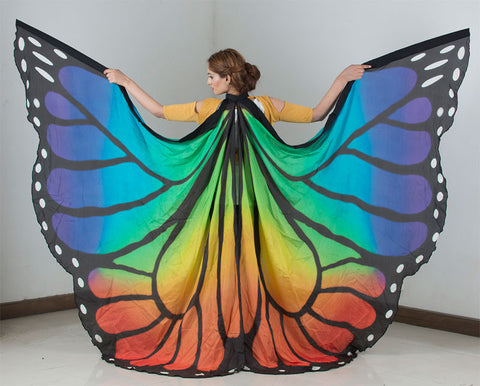 Butterfly Silk Wings In Large Size Rainbow