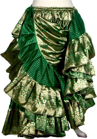 Green banarsi skirt