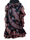Block print skirt fish eye with Padma border
