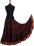 Padma Ashwarya skirt brown