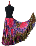 Block print skirt peacock Tye Dyed multi colors
