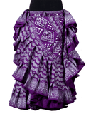 Block print assuit skirt purple/silver in polyester