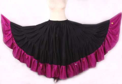 Mirror Skirt 25 Yards  Black Magenta