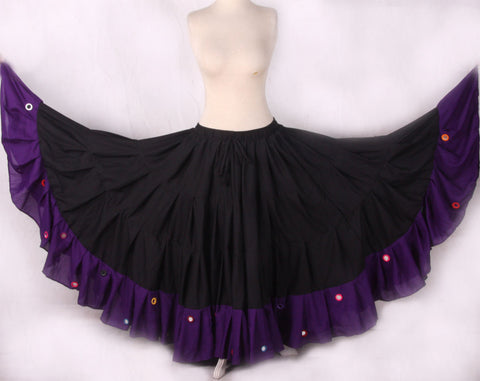 Mirror Skirt 25 Yards  Black Purple