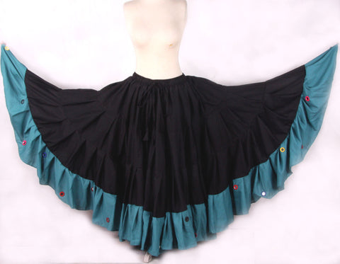 Mirror Skirt 25 Yards  Black SeaGreen