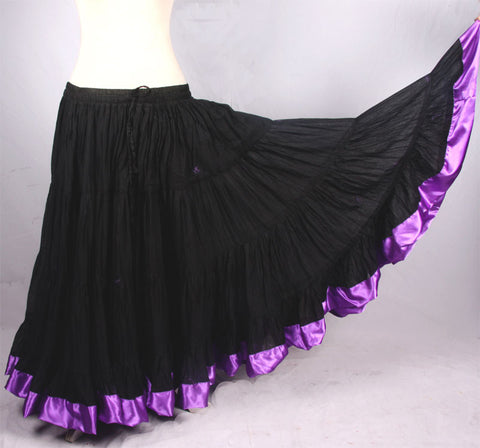 Silk Trim Skirt Purple