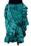 tiger stripe skirt teal/black 2020