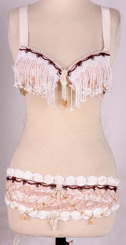 Steampunk Lace Bra Belt Set