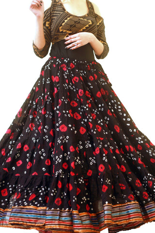 Jaipur multi dot padma skirt red/black