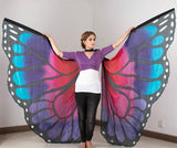 Butterfly Silk Isis Wings red/pink/purple/turquoise