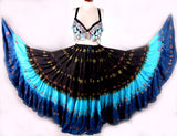 Jaquard bindi Skirt Black Turquoise Blue