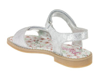 Primigi Girls Suede Silver Laminated Sandals