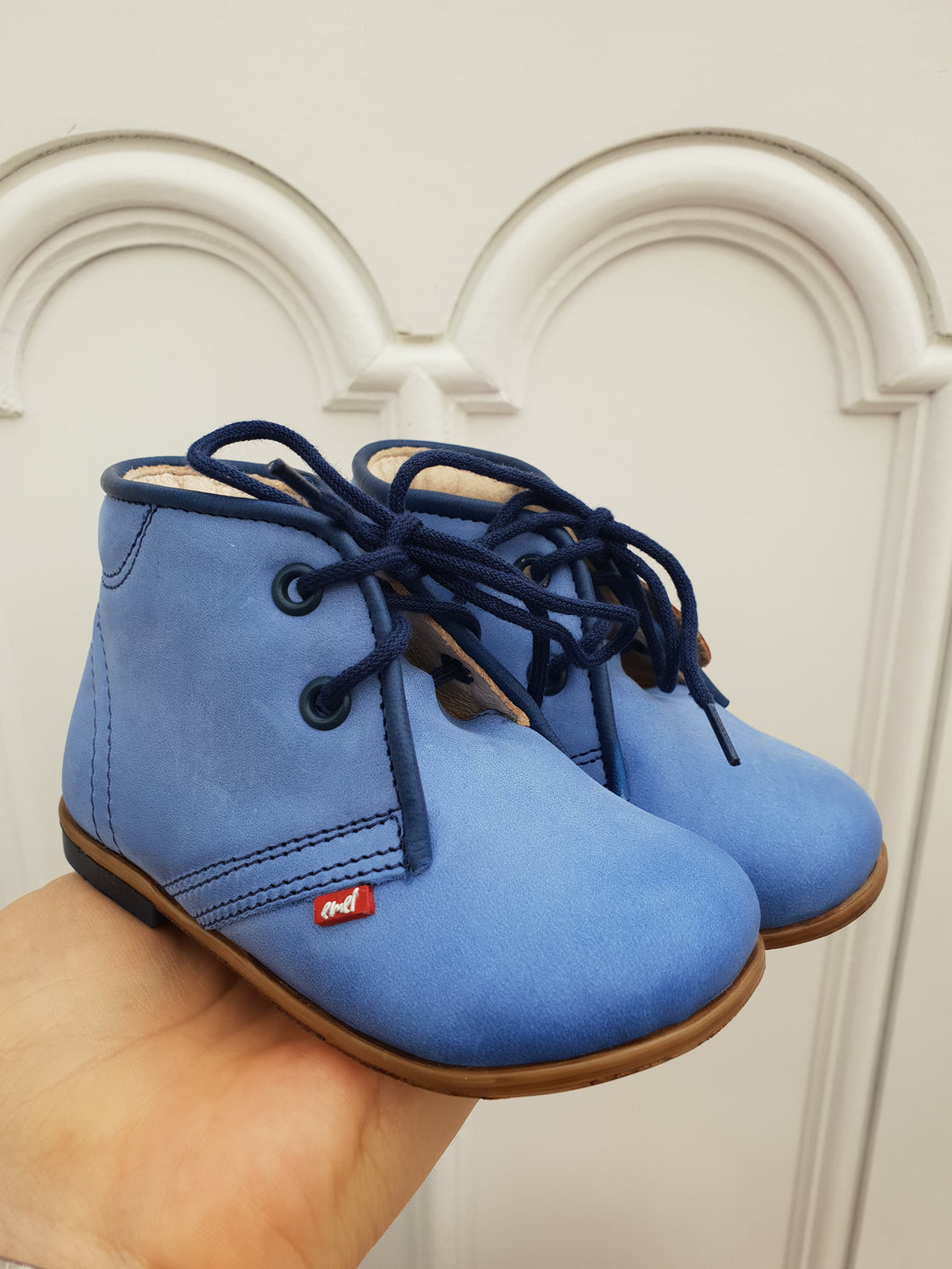 Emel Blue Lace Up Casual Shoes