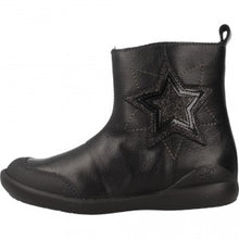 Biomecanics Girls Black Leather Boots with a star 181163