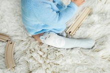 Furry - knee socks for crawling (grey)