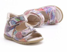 Emel Mosaic Leather Double Velcro Sandals