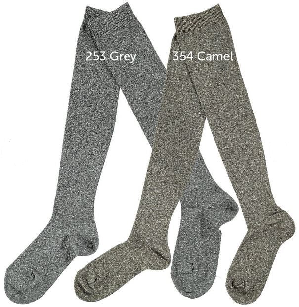 Condor Over the Knee Party Socks - Grey/Silver