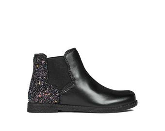 Geox Shawntel Girl Ankle Boots with Glittery Heal
