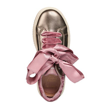 GEOX DISCOMIX Girls Sneakers - pearl gold with pink