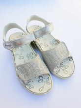 Primigi Girls Leather Beaded Silver Sandals