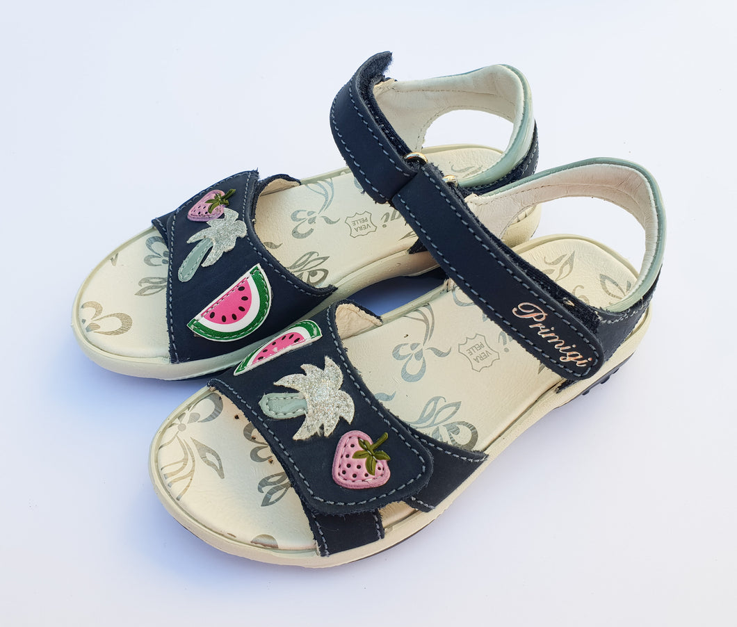 Primigi Girls Leather Navy Sandals with fun details