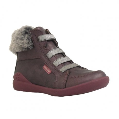 Biomecanics Girls Ankle leather boots with fur