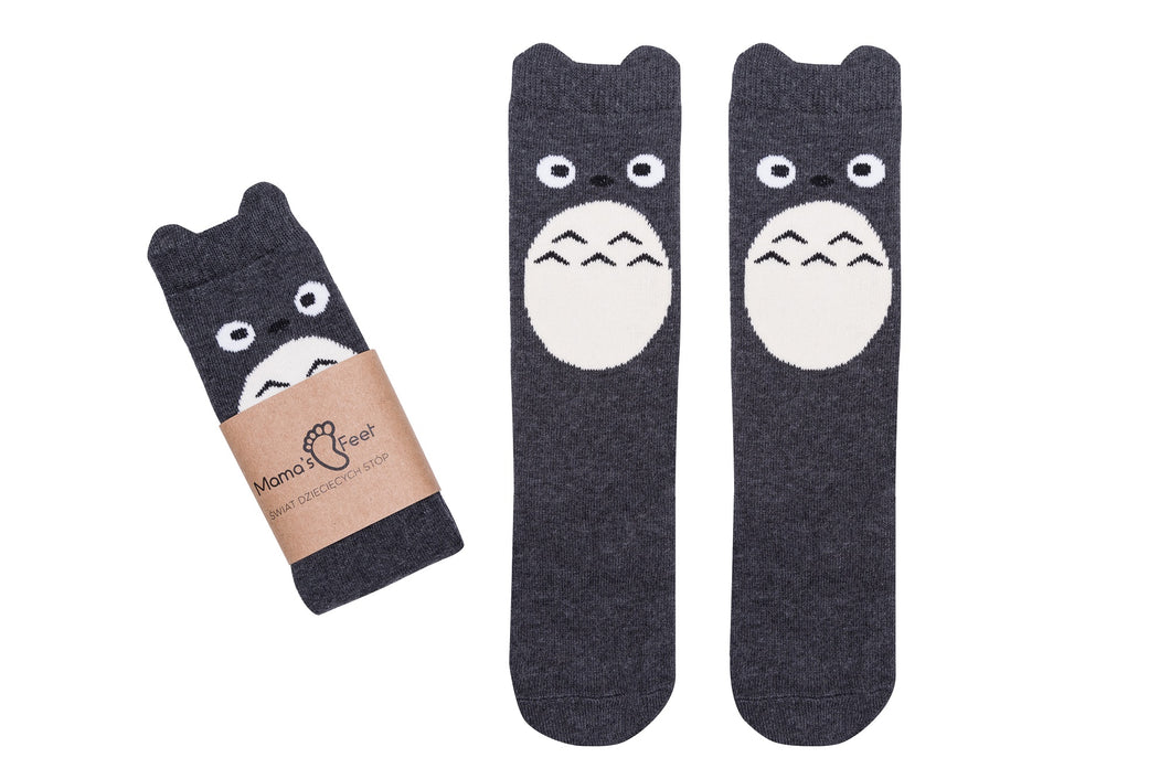 Mama's Feet Polly a Happy Bird - knee-high socks (Black&White)