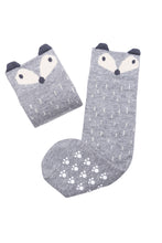 Mama's Feet Rene the Sneaky Fox Knee-high socks (Grey)