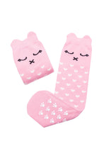 Mama's Feet Lilly a Pinky Kitty - knee-high socks (Pink)