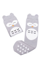 Mama's Feet Henry the Wise Owl knee-high socks (Grey)